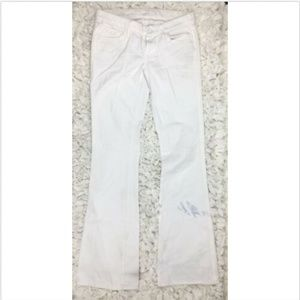 7 For All Mankind 26 Flare Jeans White Womens J264